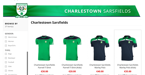 charlestown gaa shop